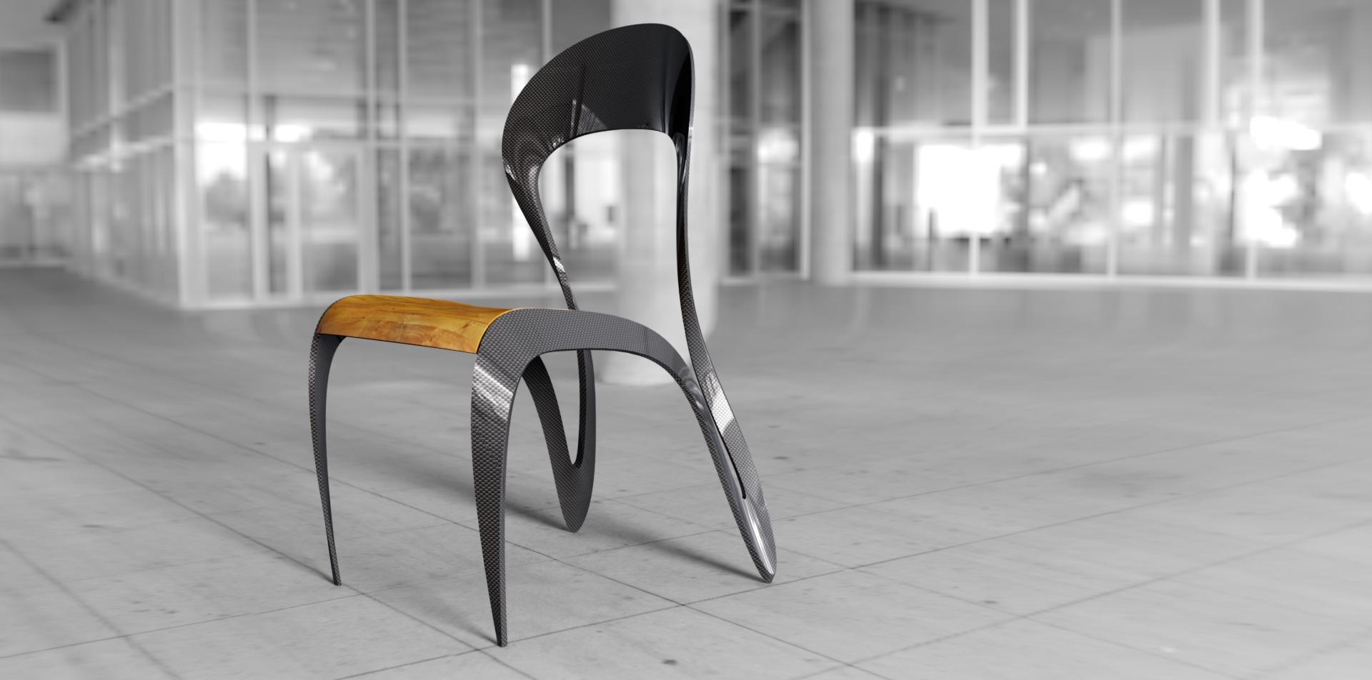 Chaise inspirée de calligraphie design soussi wissem wisign