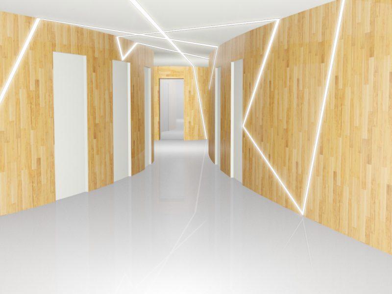 couloir pavillion bourguiba led et bois