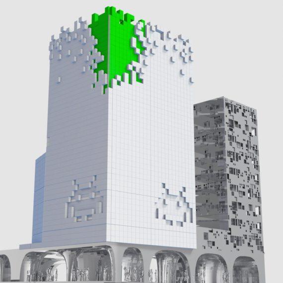 facade immeuble par soussi wissem inspiration invader