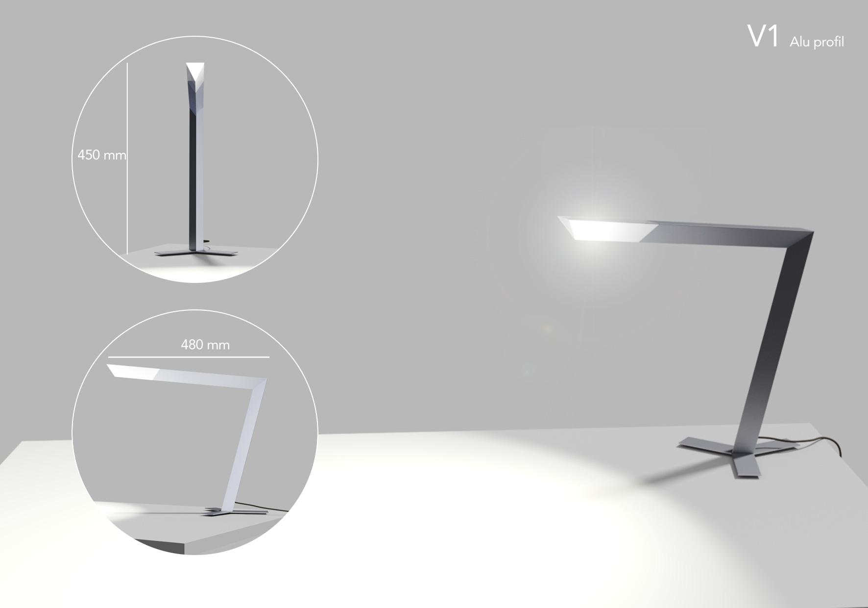 lampe de bureau aluminium wissem soussi